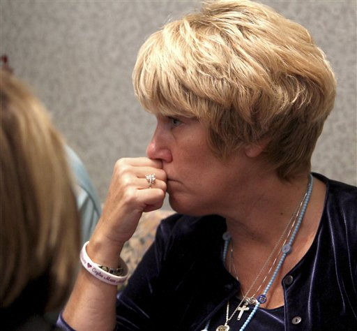 "<div class=""meta image-caption""><div class=""origin-logo origin-image ""><span></span></div><span class=""caption-text"">Cindy Anthony listens to testimony in the courtroom during the murder trial of her daughter Casey Anthony at the Orange County Courthouse, Thursday, June 16, 2011, in Orlando, Fla. Casey Anthony, 25, is charged with killing her 2-year old daughter in 2008. (AP Photo/Red Huber, Pool) (AP Photo/ Red Huber)</span></div>"
