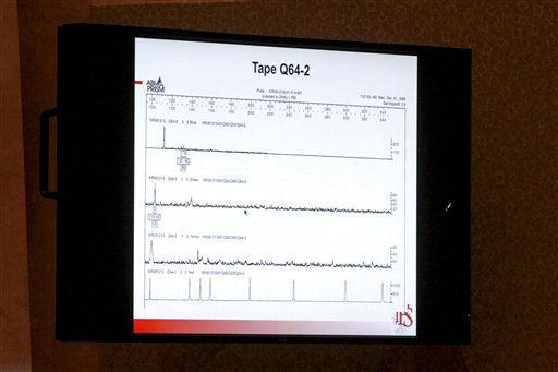 "<div class=""meta image-caption""><div class=""origin-logo origin-image ""><span></span></div><span class=""caption-text"">This image seen on a courtroom monitor shows a slide from a presentation about DNA presented by Dr. Richard Eikelenboom during testimony in the Casey Anthony trial  at the Orange County Courthouse in Orlando, Fla., Tuesday, June 21, 2011. Casey Anthony, 25, is charged with killing her daughter Caylee in the summer of 2008. (AP Photo/Red Huber, Pool) (AP Photo/ Red Huber)</span></div>"