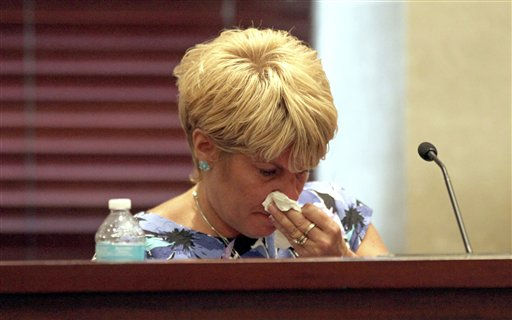 "<div class=""meta ""><span class=""caption-text "">Cindy Anthony testifies for the second day in a row during the defense portion of the murder trial of her daughter Casey Anthony at the Orange County Courthouse in Orlando, Fla. on Friday, June 24, 2011. Casey Anthony, 25, is charged with killing her 2-year old daughter in 2008.(AP Photo/Red Huber,Pool) (AP Photo/ Red Huber)</span></div>"