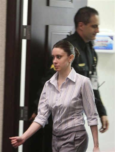 Casey Anthony enters the courtroom before the start of court in her murder trial at the Orange County Courthouse in Orlando, Fla. on Friday, June 24, 2011.  Anthony, 25, is charged with the murder of her 2-year old daughter in 2008.&#40;AP Photo&#47;Red Huber,Pool&#41; <span class=meta>(AP Photo&#47; Red Huber)</span>