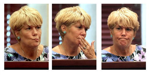 "<div class=""meta ""><span class=""caption-text "">In this combination photo, Cindy Anthony testifies for the second day in a row for the defense in the murder trial of her daughter Casey Anthony at the Orange County Courthouse in Orlando, Fla. on Friday, June 24, 2011. Casey Anthony, 25, is charged with killing her 2-year old daughter in 2008.   (AP Photos/Red Huber, Pool) (AP Photo/ Red Huber)</span></div>"