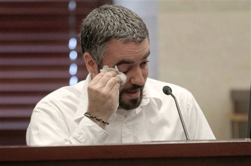 "<div class=""meta ""><span class=""caption-text "">Lee Anthony testifies in the murder case of his sister Casey Anthony at the Orange County Courthouse in Orlando, Fla., on Friday, June 24, 2011. Anthony, 25, is charged with the murder of her 2-year old daughter in 2008.  (AP Photo/Red Huber, Pool) (AP Photo/ Red Huber)</span></div>"