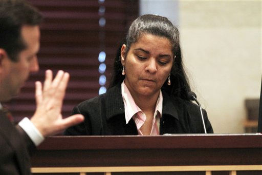 Krystal Holloway, also known as River Cruz, testifies during the Casey Anthony trial at the Orange County Courthouse in Orlando, Fla. on Thursday, June 30, 2011. Holloway claims to have had an affair with Casey&#39;s father George Anthony.  Casey Anthony, 25, has plead not guilty in the death of her daughter, Caylee, and could face the death penalty if convicted of that charge. &#40;AP Photo&#47;Red Huber, Pool&#41; <span class=meta>(AP Photo&#47; Red Huber)</span>