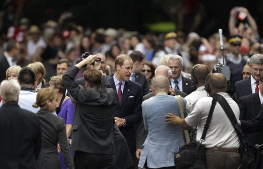 "<div class=""meta ""><span class=""caption-text "">Prince William at the Official Welcome Ceremony to Canada at Rideau Hall in Ottawa, Canada, on their first official overseas trip Thursday, June 30, 2011. (AP Photo/Charlie Riedel) (AP Photo/ Charlie Riedel)</span></div>"