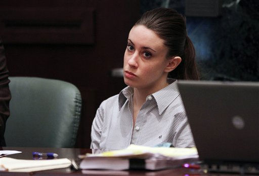 "<div class=""meta ""><span class=""caption-text "">Casey Anthony listens during testimony in her murder trial at the Orange County Courthouse Thursday, June 30, 2011 in Orlando, Fla. Casey Anthony, 25, has plead not guilty in the death of her daughter, Caylee, and could face the death penalty if convicted of that charge. (AP Photo/Red Huber, Pool) (AP Photo/ Red Huber)</span></div>"