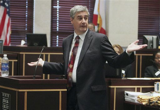 "<div class=""meta ""><span class=""caption-text "">Assistant state attorney Jeff Ashton begins closing arguments for the state in the murder trial of Casey Anthony in Orlando, Fla., Sunday, July 3, 2011. Anthony has plead not guilty to first-degree murder in the death of her daughter, Caylee, and could face the death penalty if convicted of that charge. (AP Photo/Red Huber, Pool) (AP Photo/ Red Huber)</span></div>"