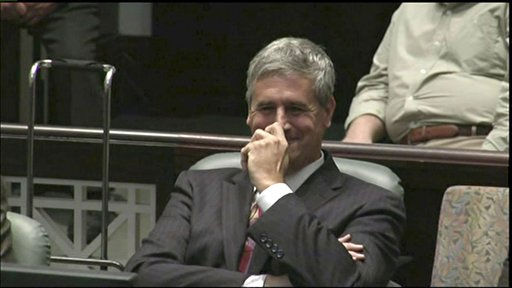 This video frame grab provided by InSession TV shows assistant state attorney Jeff Ashton smiling at the presentation of defense attorney Jose Baez during the defense team&#39;s closing arguments in the Casey Anthony trial at the Orange County Courthouse in Orlando, Fla. on Sunday, July 3, 2011. The trial was stopped when Baez yelled at Asthon during the presentation. &#40;AP Photo&#47;InSession&#41; <span class=meta>(AP Photo&#47; InSession)</span>