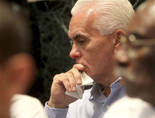 "<div class=""meta ""><span class=""caption-text "">George Anthony waits in the courtroom after an announcement that there is a verdict in the murder trial of his daughter, Casey Anthony, at the Orange County Courthouse Orlando, Fla., Tuesday July 5, 2011. Casey Anthony has pleaded not guilty to first-degree murder in her daughter, Caylee.  (AP Photo/Red Huber, Pool) (AP Photo/ Red Huber)</span></div>"