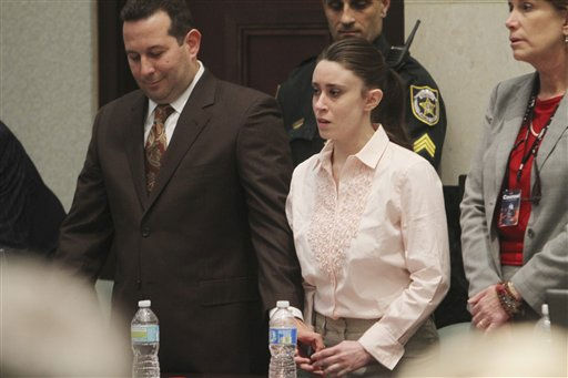 Casey Anthony and her lawyer, Jose Baez, left, react to her being found not guilty of murder charges in Orlando, Fla., Tuesday, July 5, 2011.   &#40;AP Photo&#47;Red Huber, Pool&#41; <span class=meta>(AP Photo&#47; Red Huber)</span>