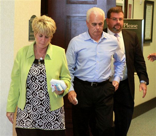 Cindy and George Anthony, parents of Casey Anthony, are the first to leave the courtroom, with their attorney Mark Lippman, right, after their daughter was found not guilty in her murder trial, at the Orange County Courthouse, in Orlando, Fla., Tuesday, July 5, 2011.     &#40;AP Photo&#47;Joe Burbank, Pool&#41; <span class=meta>(AP Photo&#47; Joe Burbank)</span>