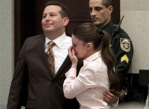 "<div class=""meta image-caption""><div class=""origin-logo origin-image ""><span></span></div><span class=""caption-text"">Defense attorney Jose Baez and Casey Anthony, hug after the jury acquitted her of murdering her daughter, Caylee, during Anthony's murder trial at the Orange County Courthouse in Orlando, Fla., Tuesday, July 5, 2011. (AP Photo/Red Huber, Pool) (AP Photo/ Red Huber)</span></div>"