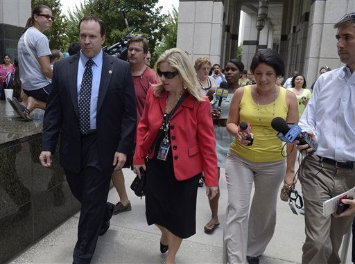 State attorney Linda Drane Burdick, center, arrives for the reading of the Casey Anthony verdict at the Orange County Courthouse in Orlando, Fla., Tuesday, July 5, 2011.&#40;AP Photo&#47;Phelan M. Ebenhack&#41; <span class=meta>(AP Photo&#47; Phelan M. Ebenhack)</span>