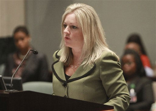 "<div class=""meta ""><span class=""caption-text "">Assistant state attorney Linda Drane Burdick presents arguments to Judge Belvin Perry during the Casey Anthony sentencing hearing at the Orange County Courthouse  in Orlando, Fla., Thursday, July 7, 2011. Perry sentenced Anthony to four years for lying to investigators but says she can go free in late July or early August after serving nearly three years in jail. While acquitted of killing and abusing her daughter, Caylee, Anthony was convicted of four counts of lying to police trying to find her daughter in the summer of 2008. (AP Photo/Joe Burbank, Pool) (AP Photo/ Joe Burbank)</span></div>"