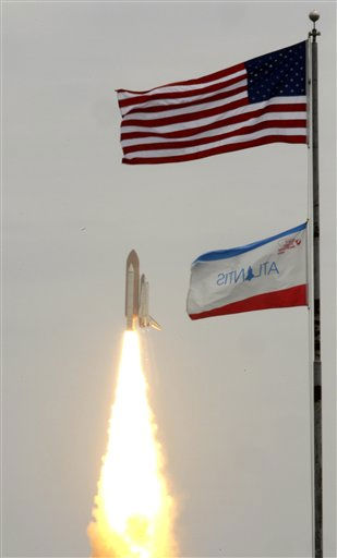 The space shuttle Atlantis lifts off from the Kennedy Space Center Friday, July 8, 2011, in Cape Canaveral, Fla. Atlantis is the 135th and final space shuttle launch for NASA. &#40;AP Photo&#47;Tim Donnelly&#41; <span class=meta>(AP Photo&#47; Tim Donnelly)</span>