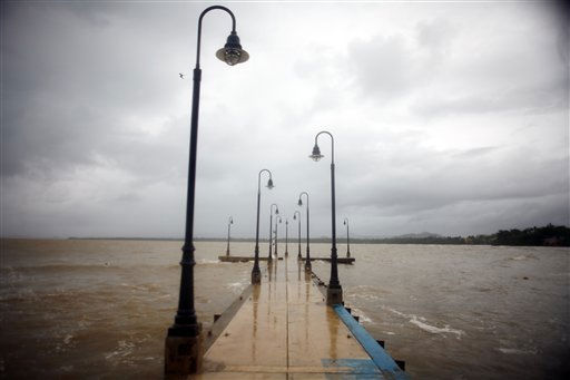 A pier is seen after hurricane Irene hit the area in Naguabo, Puerto Rico, Monday, Aug. 22, 2011.   <span class=meta>(AP Photo&#47; Ricardo Arduengo)</span>