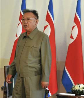 North Korean leader Kim Jong Il, waits for his meeting with Russian President Dmitry Medvedev, unseen, at a military garrison outside Ulan-Ude in Byryatia, on Wednesday, Aug. 24, 2011. Medvedev arrived Wednesday in remote eastern Siberia for a summit with the North Korean leader expected to focus on energy deals, economic aid and nuclear disarmament. &#40;AP Photo&#41; <span class=meta>(AP Photo&#47; Anonymous)</span>