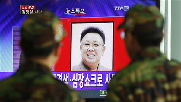 "<div class=""meta ""><span class=""caption-text "">South Korean soldiers watch a news reporting about the death of North Korean leader Kim Jong Il on a TV screen at the Seoul train station in Seoul, South Korea, Monday, Dec. 19, 2011. Kim Jong Il, North Korea's mercurial and enigmatic leader, has died. He was 69. (AP Photo/ Lee Jin-man) (AP Photo/ Lee Jin-man)</span></div>"