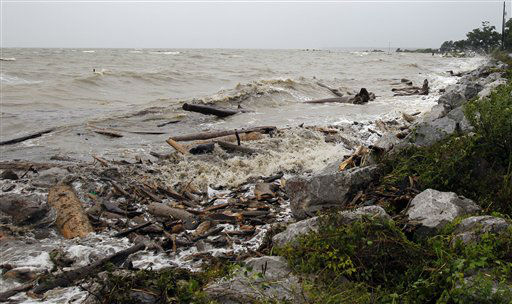 "<div class=""meta ""><span class=""caption-text "">Debris from Hurricane Isaac washes up on shore along the Mobile Bay area in Mobile, Ala. on Wednesday, August 29, 2012.   (AP Photo/ Butch Dill)</span></div>"