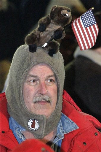 "<div class=""meta ""><span class=""caption-text "">Al Donst, of Belvidere, NJ., waits in the early morning of Feb. 2, 2012 on Gobbler's Knob for weather prognosticating groundhog Punxsutawney Phil to appear, during the 126th celebration of Groundhog Day in Punxsutawney, Pa.  (AP Photo/ Gene J. Puskar)</span></div>"