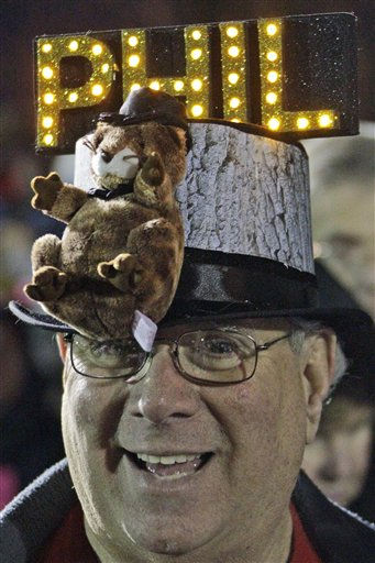 "<div class=""meta ""><span class=""caption-text "">Fred Unger of York, Pa., waits in the early morning of Feb. 2, 2012 on Gobbler's Knob for weather prognosticating groundhog Punxsutawney Phil to appear, during the 126th celebration of Groundhog Day in Punxsutawney, Pa.  (AP Photo/ Gene J. Puskar)</span></div>"