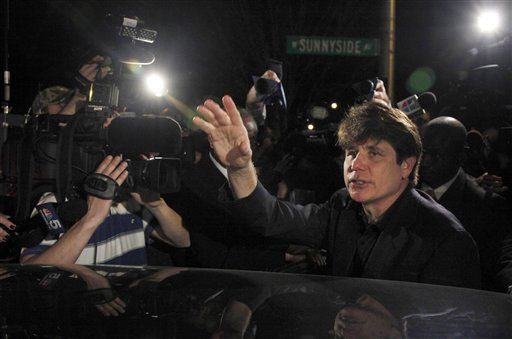 Former Illinois Gov. Rod Blagojevich departs his Chicago home for Littleton, Colo., to begin his 14-year prison sentence on corruption charges Thursday, March 15, 2012. The 55-year-old Democrat becomes the second Illinois governor in a row to go to prison for corruption. &#40;AP Photo&#47;Charles Rex Arbogast&#41; <span class=meta>(AP Photo&#47; Charles Rex Arbogast)</span>