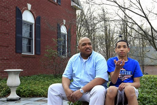 "<div class=""meta ""><span class=""caption-text "">In this Friday, March 23, 2012 photo, Bill Stephney talks to his son Trevor, 13, as they sit outside their home in Randolph Township, N.J. Stephney, a media executive who lives in a New Jersey suburb that is mostly white and Asian, has two sons, ages 18 and 13. The killing of Trayvon Martin was an opportunity for him to repeat a longtime lesson: black men can get singled out, ?so please conduct yourself accordingly. (AP Photo/ Mel Evans)</span></div>"