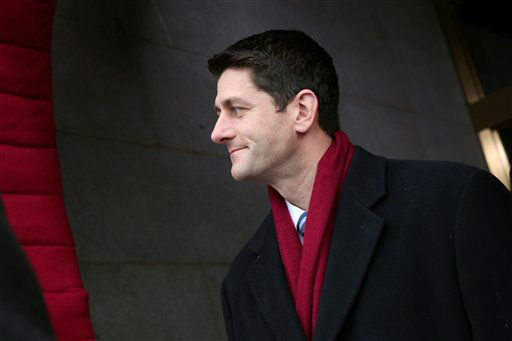 "<div class=""meta ""><span class=""caption-text "">House Budget Committee Chairman Rep. Paul Ryan, R-Wis. arrives on the West Front of the Capitol in Washington, Monday, Jan. 21, 2013, for the Presidential Barack Obama's ceremonial swearing-in ceremony during the 57th Presidential Inauguration.    (AP Photo/ Win McNamee)</span></div>"