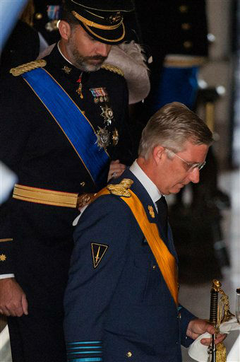Belgium&#39;s Prince Philippe leaves the Grand Ducal Palace in Luxembourg, Saturday Oct. 20, 2012. Royalty from Europe, the Middle East and Japan have arrived in the tiny country to celebrate the wedding ceremonies of the heir to the throne Prince Guillaume to Belgian Countess Stephanie de Lannoy. &#40;AP Photo&#47;Geert Vanden Wijngaert&#41; <span class=meta>(AP Photo&#47; Geert Vanden Wijngaert)</span>