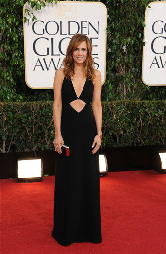 "<div class=""meta ""><span class=""caption-text "">Actress Kristen Wiig arrives at the 70th Annual Golden Globe Awards at the Beverly Hilton Hotel on Sunday Jan. 13, 2013, in Beverly Hills, Calif.  (Photo by Jordan Strauss/AP)</span></div>"