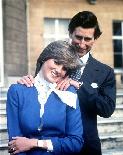 "<div class=""meta ""><span class=""caption-text "">Britain's Prince Charles and Lady Diana Spencer pose following the announcement of their engagement, Feb. 24, 1981. (AP Photo/Pool) (AP Photo/ RON BELL)</span></div>"