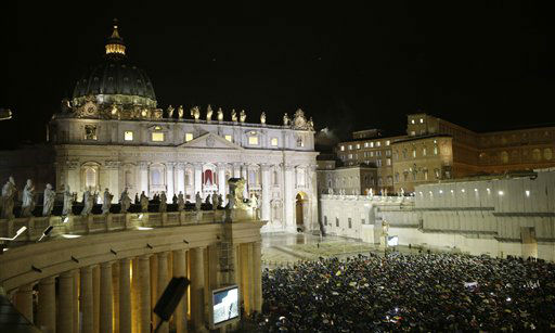 "<div class=""meta ""><span class=""caption-text "">White smoke billows from the chimney on the Sistine Chapel indicating that a new pope has been elected in St. Peter's Square at the Vatican, Wednesday, March 13, 2013.   (AP Photo/ Andrew Medichini)</span></div>"