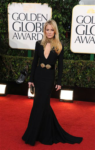 Actress Kate Hudson arrives at the 70th Annual Golden Globe Awards at the Beverly Hilton Hotel on Sunday Jan. 13, 2013, in Beverly Hills, Calif.  <span class=meta>(Photo by Jordan Strauss&#47;AP)</span>
