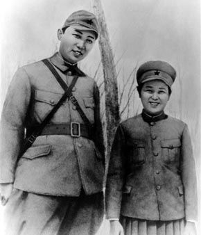 In this undated photo from North Korea&#39;s official Korean Central News Agency, distributed by Korea News Service, leader Kim Il Sung &#40;left&#41; seen with Miss Kim Jong Suk when they were engaged in the anti-Japanese guerillas. &#40;Korean Central News Agency&#47;Korea News Service via AP Images&#41; <span class=meta>(AP Photo&#47; Anonymous)</span>