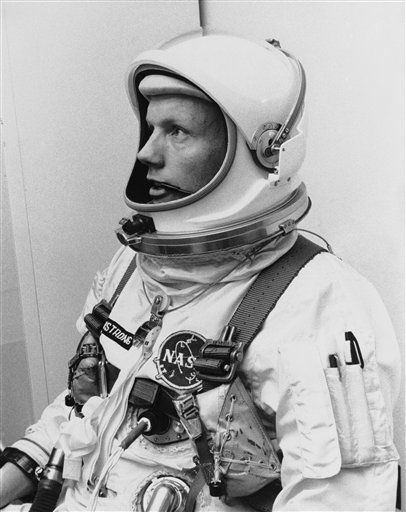 In this March 6, 1966 file photo Astronaut Neil Armstrong, pilot for the Gemini VIII mission is shown. The family of Neil Armstrong, the first man to walk on the moon, says he has died at age 82. A statement from the family says he died following complications resulting from cardiovascular procedures. It doesn&#39;t say where he died. Armstrong commanded the Apollo 11 spacecraft that landed on the moon July 20, 1969. He radioed back to Earth the historic news of &#34;one giant leap for mankind.&#34; Armstrong and fellow astronaut Edwin &#34;Buzz&#34; Aldrin spent nearly three hours walking on the moon, collecting samples, conducting experiments and taking photographs. In all, 12 Americans walked on the moon from 1969 to 1972.  <span class=meta>(AP Photo&#47; Uncredited)</span>