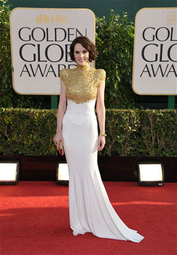 Actress Michelle Dockery at the 70th Annual Golden Globe Awards at the Beverly Hilton Hotel on Sunday Jan. 13, 2013, in Beverly Hills, Calif.  <span class=meta>(Photo by Jordan Strauss&#47;AP)</span>