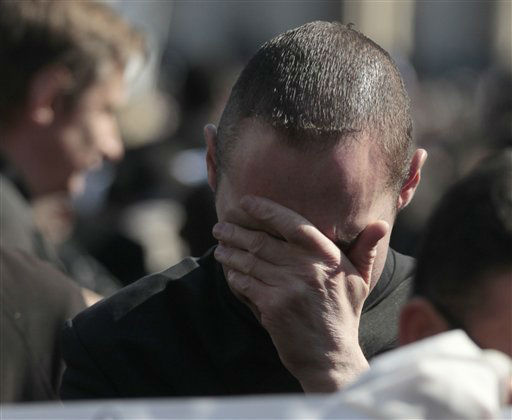"<div class=""meta ""><span class=""caption-text "">A faithful cries during Pope Benedict XVI's general audience in St. Peter's Square at the Vatican, Wednesday, Feb. 27, 2013. Pope Benedict XVI basked in an emotional sendoff Wednesday at his final general audience in St. Peter's Square, recalling moments of ""joy and light"" during his papacy but also times of great difficulty. He also thanked his flock for respecting his decision to retire.   (AP Photo/ Gregorio Borgia)</span></div>"