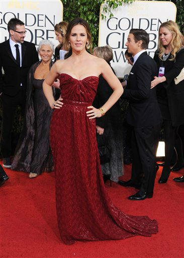 "<div class=""meta ""><span class=""caption-text "">Actress Jennifer Garner arrives at the 70th Annual Golden Globe Awards at the Beverly Hilton Hotel on Sunday Jan. 13, 2013, in Beverly Hills, Calif.  (Photo by Jordan Strauss/AP)</span></div>"