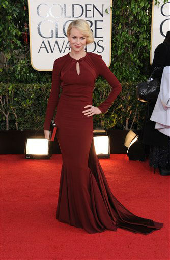 "<div class=""meta ""><span class=""caption-text "">Naomi Watts arrives at the 70th Annual Golden Globe Awards at the Beverly Hilton Hotel on Sunday Jan. 13, 2013, in Beverly Hills, Calif. (Photo by Jordan Strauss/AP)</span></div>"