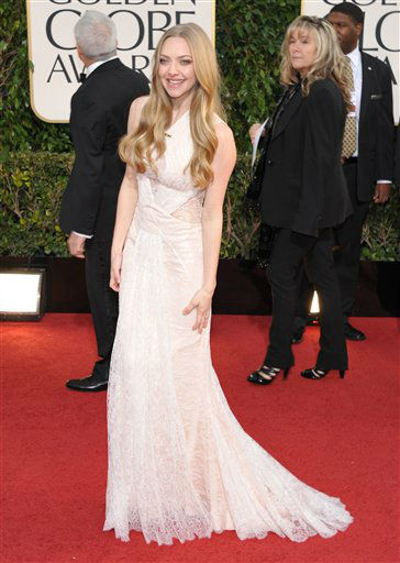 Actress Amanda Seyfried arrives at the 70th Annual Golden Globe Awards at the Beverly Hilton Hotel on Sunday Jan. 13, 2013, in Beverly Hills, Calif.  <span class=meta>(Photo by Jordan Strauss&#47;AP)</span>