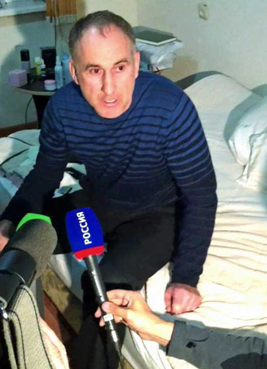 "<div class=""meta ""><span class=""caption-text "">In this image taken from a mobile phone video, the father of USA Boston bomb suspects, Anzor Tsaraev reacts as he talks to the media about his sons, in his home in the Russian city of Makhachkala, Friday April 19, 2013. One son is now dead, and one son Dzhokhar Tsaraev is still at large on Friday suspected in Monday's deadly Boston Marathon bombing which stunned friends who have pleaded for the surviving brother, described as bright and outgoing young man, to turn himself in and not hurt anyone.(AP Photo)</span></div>"