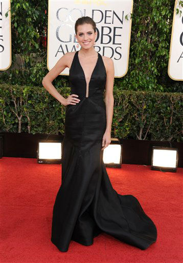 "<div class=""meta image-caption""><div class=""origin-logo origin-image ""><span></span></div><span class=""caption-text"">Actress Allison Williams arrives at the 70th Annual Golden Globe Awards at the Beverly Hilton Hotel on Sunday Jan. 13, 2013, in Beverly Hills, Calif. (Photo by Jordan Strauss/Invision/AP) (Photo/Jordan Strauss)</span></div>"