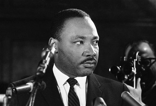 Dr. Martin Luther King tells a news conference in Selma, Alabama on Feb. 5, 1965, that he feels there is a need for new legislation on the right to vote. He vowed to continue the voter registration drive ?until the victory is won.? King was bearded following a five day stay in jail. &#40;AP Photo&#47;Horace Cort&#41; <span class=meta>(AP Photo&#47; Horace Cort)</span>