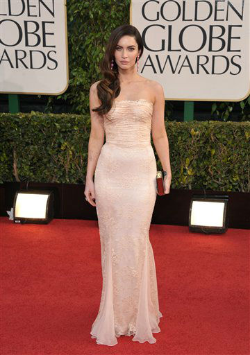 "<div class=""meta ""><span class=""caption-text "">Actress Megan Fox arrives at the 70th Annual Golden Globe Awards at the Beverly Hilton Hotel on Sunday Jan. 13, 2013, in Beverly Hills, Calif. (Photo by John Shearer/AP)</span></div>"