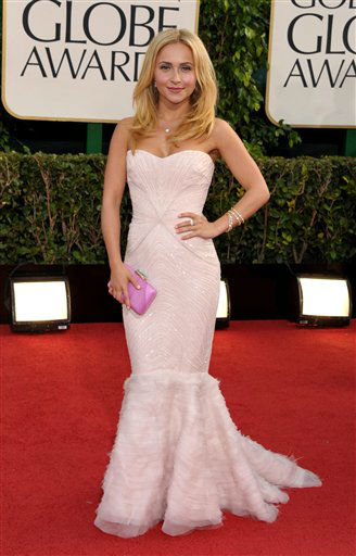 Actress Hayden Panettiere arrives at the 70th Annual Golden Globe Awards at the Beverly Hilton Hotel on Sunday Jan. 13, 2013, in Beverly Hills, Calif. <span class=meta>(Photo by Jordan Strauss&#47;AP)</span>