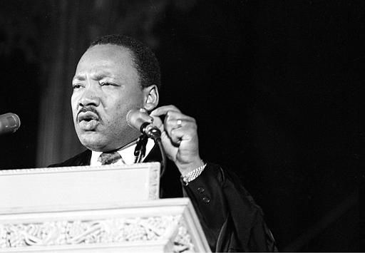"<div class=""meta ""><span class=""caption-text "">Dr. Martin Luther King Jr., discusses his planned poor people's demonstration from the pulpit of the Washington National Cathedral in Washington, D.C., March 31, 1968.  (AP Photo) (AP Photo/ XNBG)</span></div>"