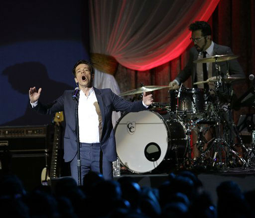 Fun performs during The Inaugural Ball at the Washignton convention center during the 57th Presidential Inauguration in Washington, Monday, Jan. 21, 2013.   <span class=meta>(AP Photo&#47; Paul Sancya)</span>