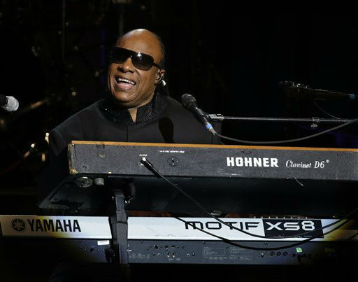 Singer Stevie Wonder performs during the Inaugural Ball at the 57th Presidential Inauguration in Washington, Monday, Jan. 21, 2013.   <span class=meta>(AP Photo&#47; Paul Sancya)</span>