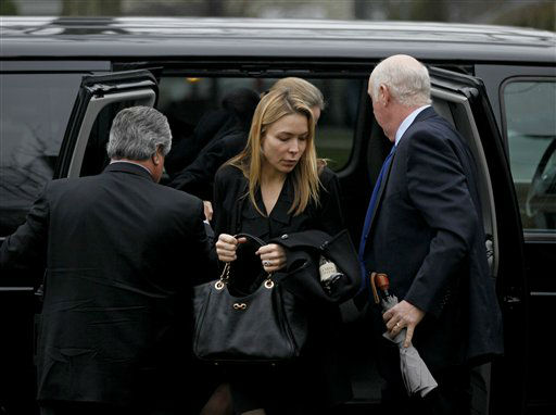 Mourners arrive for the funeral service of Sandy Hook Elementary School shooting victim, six-year-old Jack Pinto, Monday, Dec. 17, 2012, in Newtown, Conn. Six-year-old student Jack Pinto, who was killed Friday when a gunman opened fire inside the Sandy Hook Elementary School, is scheduled to be buried at the cemetery Monday afternoon. &#40;AP Photo&#47;David Goldman&#41; <span class=meta>(AP Photo&#47; David Goldman)</span>
