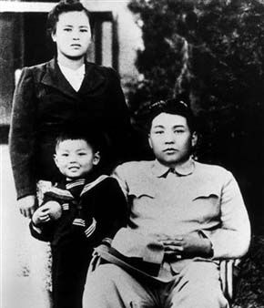In this July 9, 1974 photo from North Korea&#39;s official Korean Central News Agency, distributed by Korea News Service, Kim Jong Il, 5-years-old, takes part in a souvenir picture with his parents, leader Kim Il Sung and Kim Jong Suk, in Kyongsong County, Hamgyong in North Korea. &#40;Korean Central News Agency&#47;Korea News Service via AP Images&#41; <span class=meta>(AP Photo&#47; Anonymous)</span>