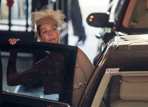 "<div class=""meta ""><span class=""caption-text "">Princess Caroline of Monaco leaves the Grand Ducal Palace in Luxembourg, Saturday Oct. 20, 2012. Royalty from Europe, the Middle East and Japan have arrived in the tiny country to celebrate the wedding ceremonies of the heir to the throne Prince Guillaume to Belgian Countess Stephanie de Lannoy. (AP Photo/Geert Vanden Wijngaert) (AP Photo)</span></div>"